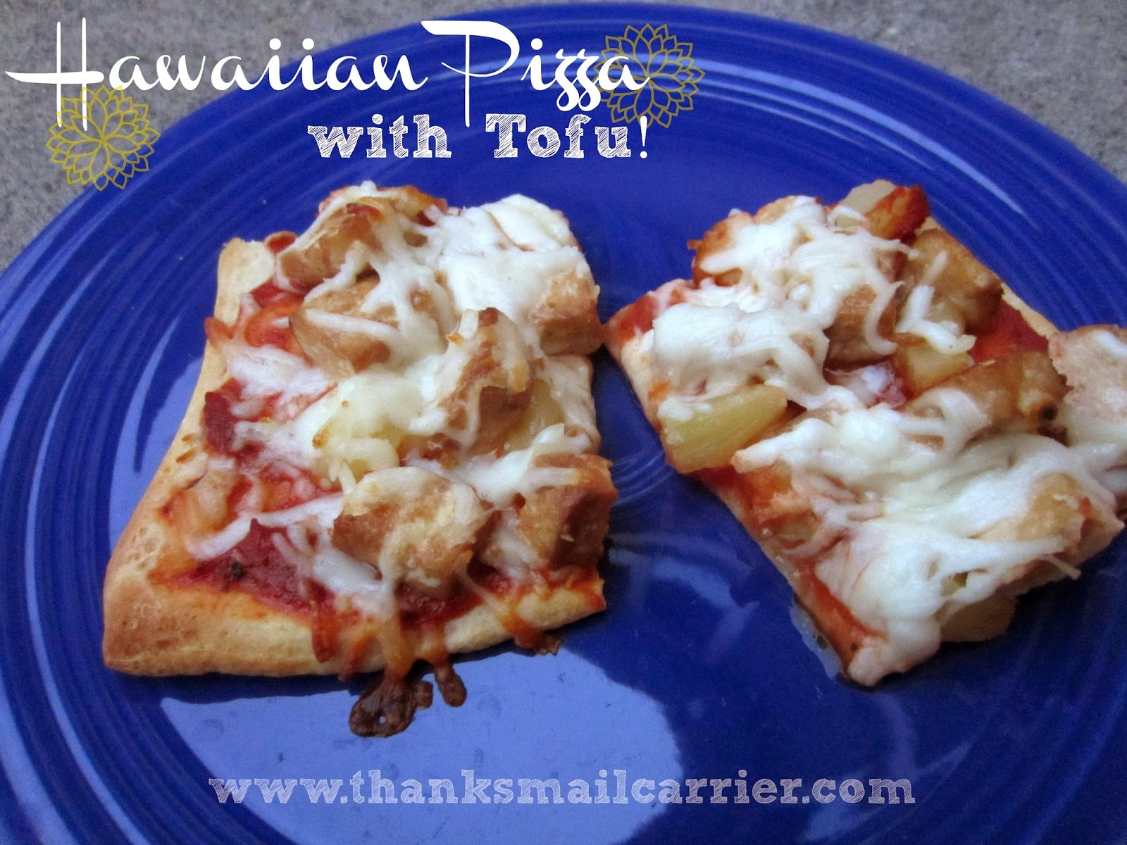 vegetarian hawaiian pizza