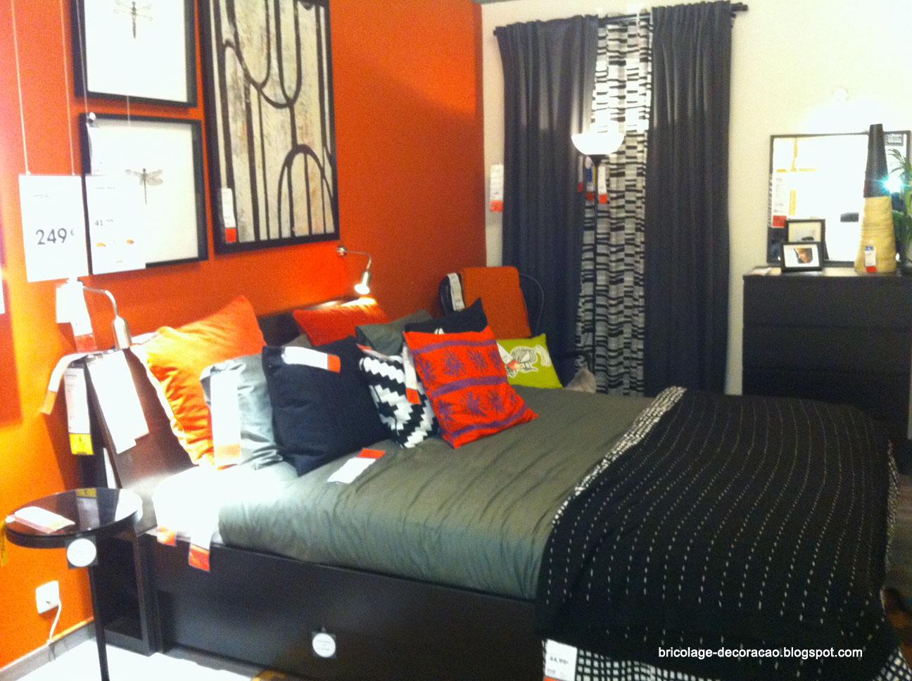 Quarto de Casal em Tons de Laranja e Preto Sugestão IKEA  ~ Um Quarto De Laranja Blog