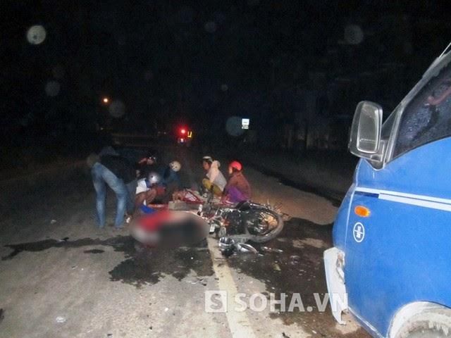 2 cậu cháu bị tai nạn chết thảm trong đêm