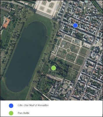 Gîte chambre d'hôtes Versailles parc Balbi