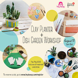 Clay Planter+Dish Garden Workshop