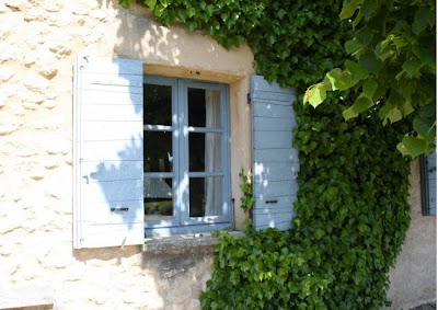 French Country Style Blue Shutters Are Quintessentially