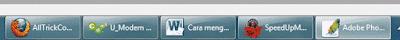 teks icon di taskbar