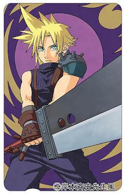 Masashi Kishimoto (Naruto) draws Cloud from Final Fantasy VII.