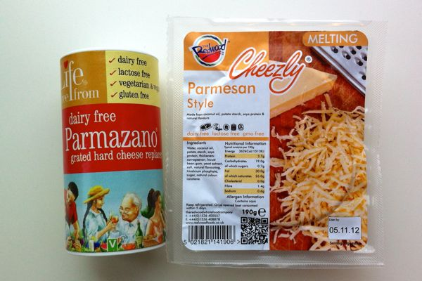 Best Vegan Parmesan Redwood Parmesan Style Cheezly & Life Free From Parmazano