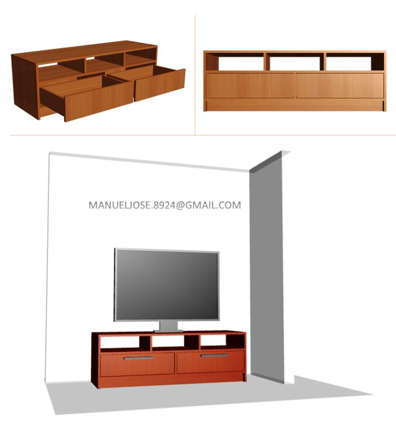 Dise o de muebles madera dise os construir mueble para for Muebles de diseno moderno para tv