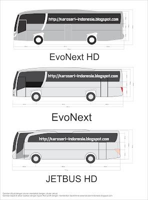 Evonext Vs Jetbus HD Compare dimensi