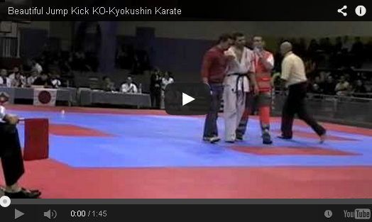 Beautiful Jump Kick KO-Kyokushin Karate - Mixed Martial Arts