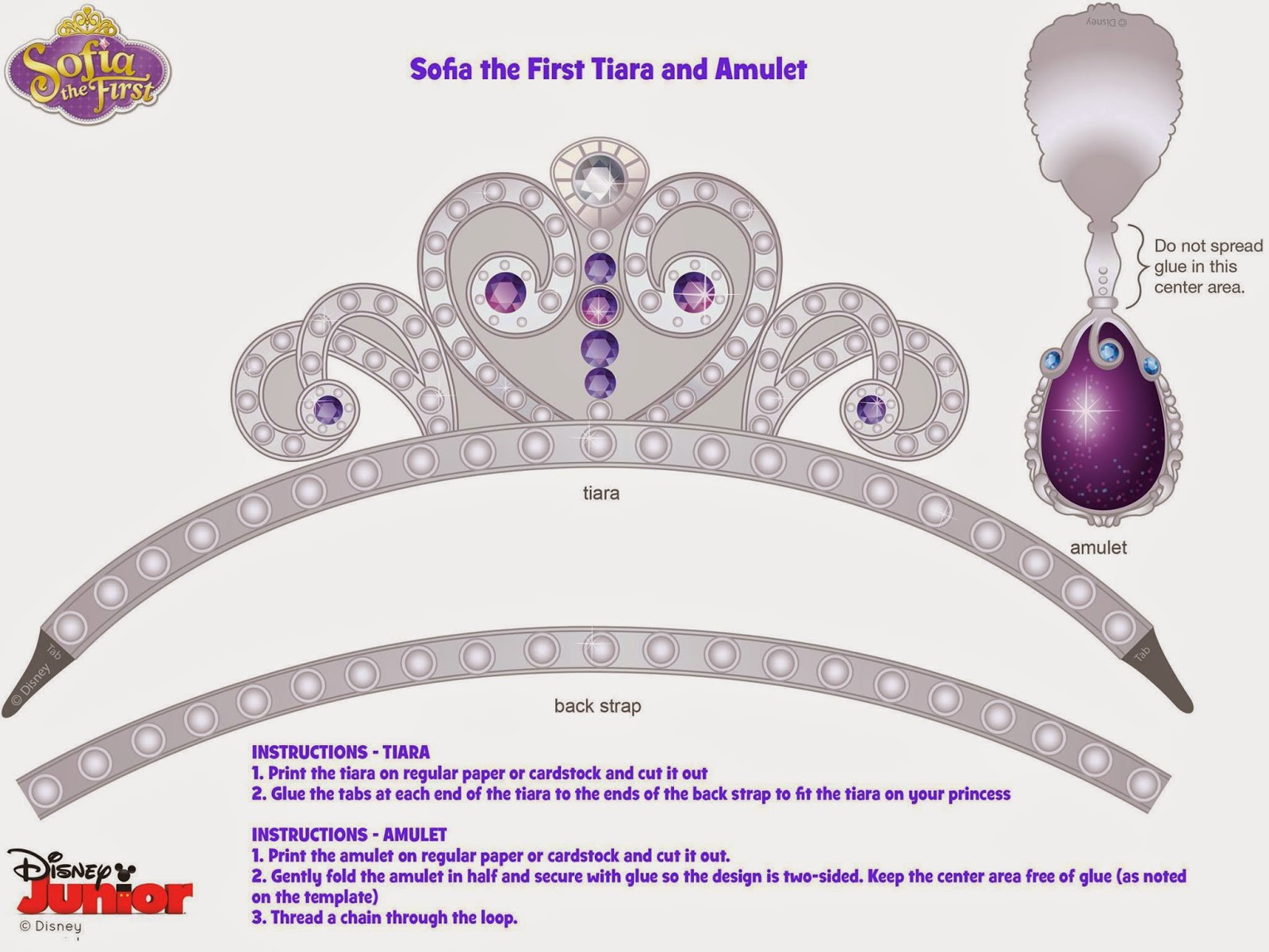 Sofia The First Crown Template Images - Template Design Ideas