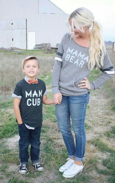 Man Cub, Mama Bear, Loved by Hannah and Eli, mother son matching