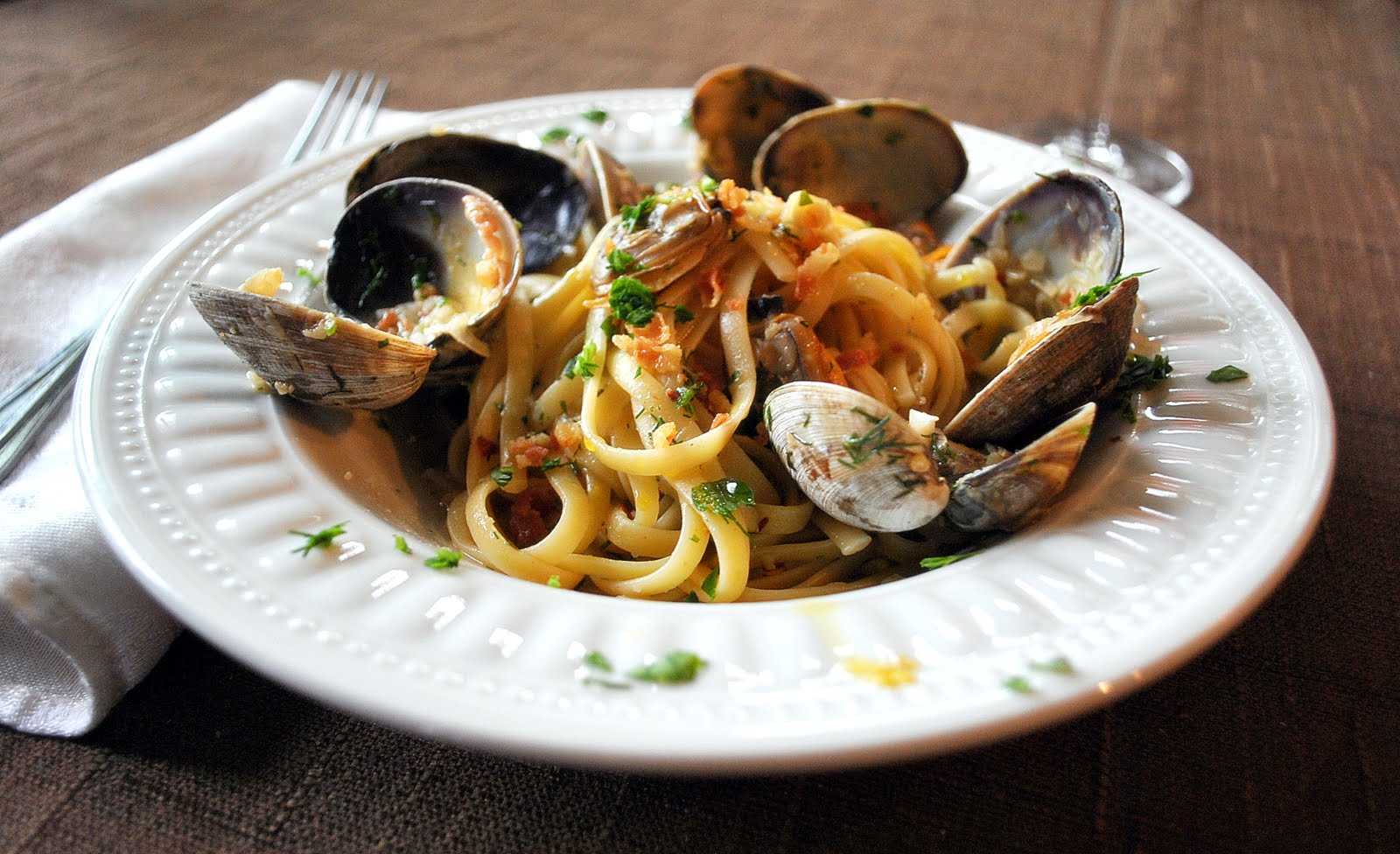 I Just Love My Apron Clam Linguine With Garlic White Wine Sauce