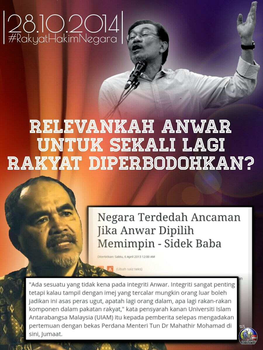 Anwar tak relevan Bahaya kepada negara