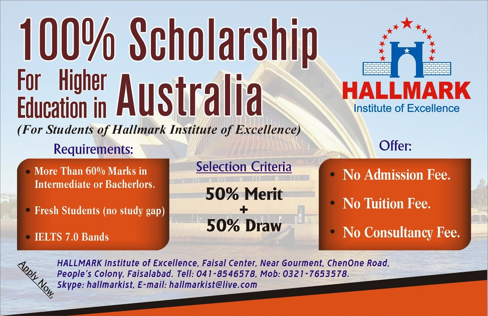 International Scholarships for Pakistani students Australia 2015