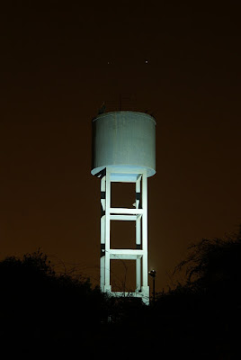Venus and Jupiter conjunction and the old water tower