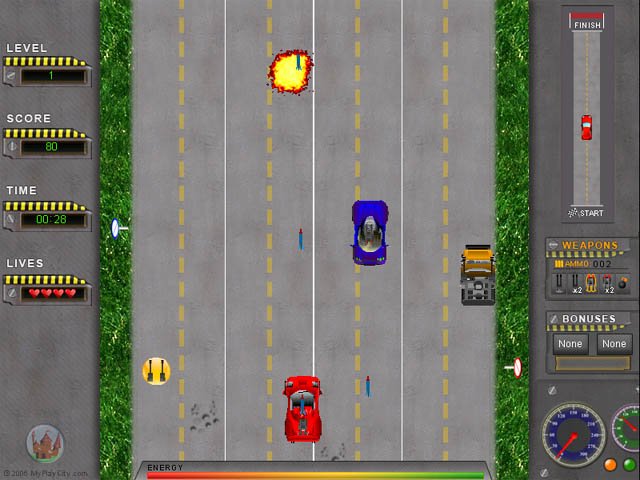 Road Attack - Race Car Game