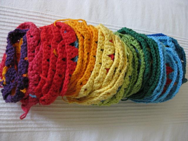 las tardes de Ana: Crochet: manta a cuadros (continuación)