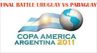 Laga Final Copa America 2011 URUGUAY VS PARAGUAY [Prediksi]