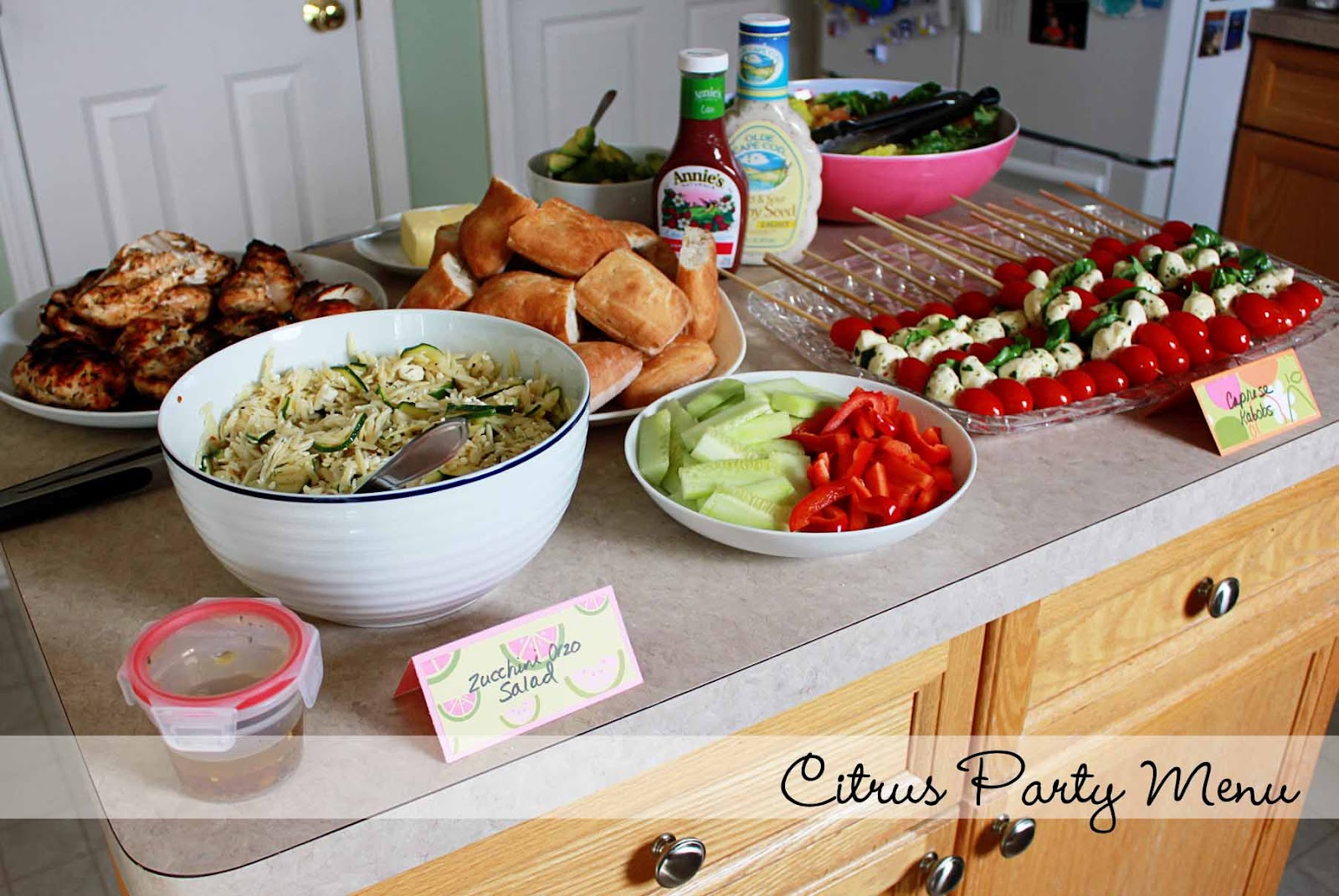 Birthday Party Dinner Ideas Part - 23: A Citrus Themed Birthday Party Menu