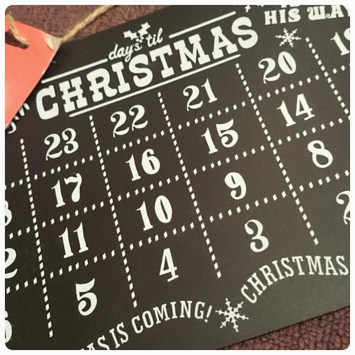 christmas advent chalk board
