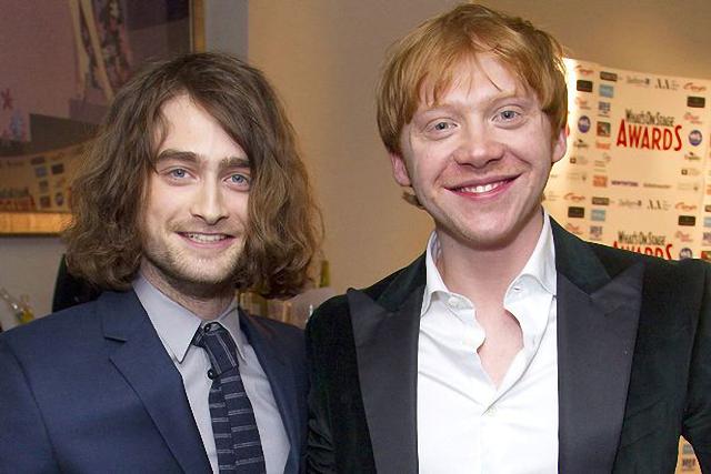 Harry Potter, Daniel Radcliffe y Rupert Grint lucen muy distintos