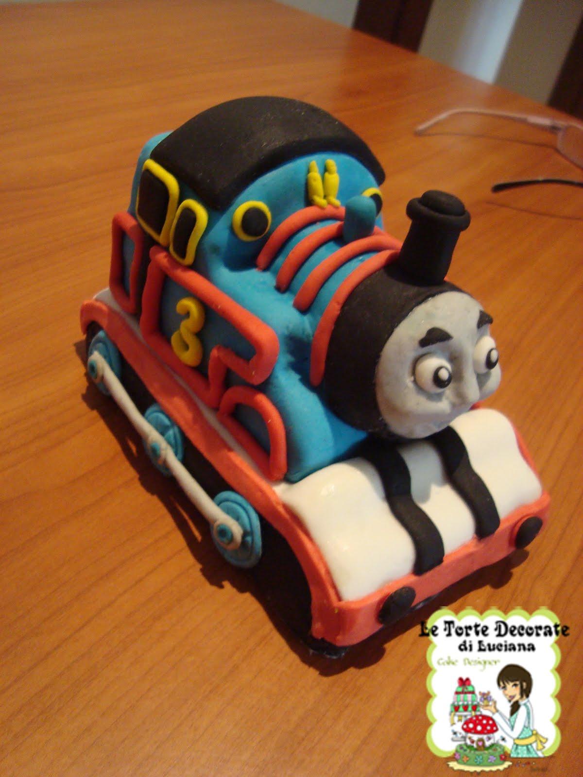 Le torte decorate cake topper trenino thomas for Decorazioni torte trenino thomas