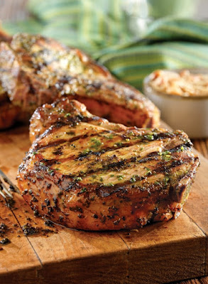 grilled pork steaks with pineapple
