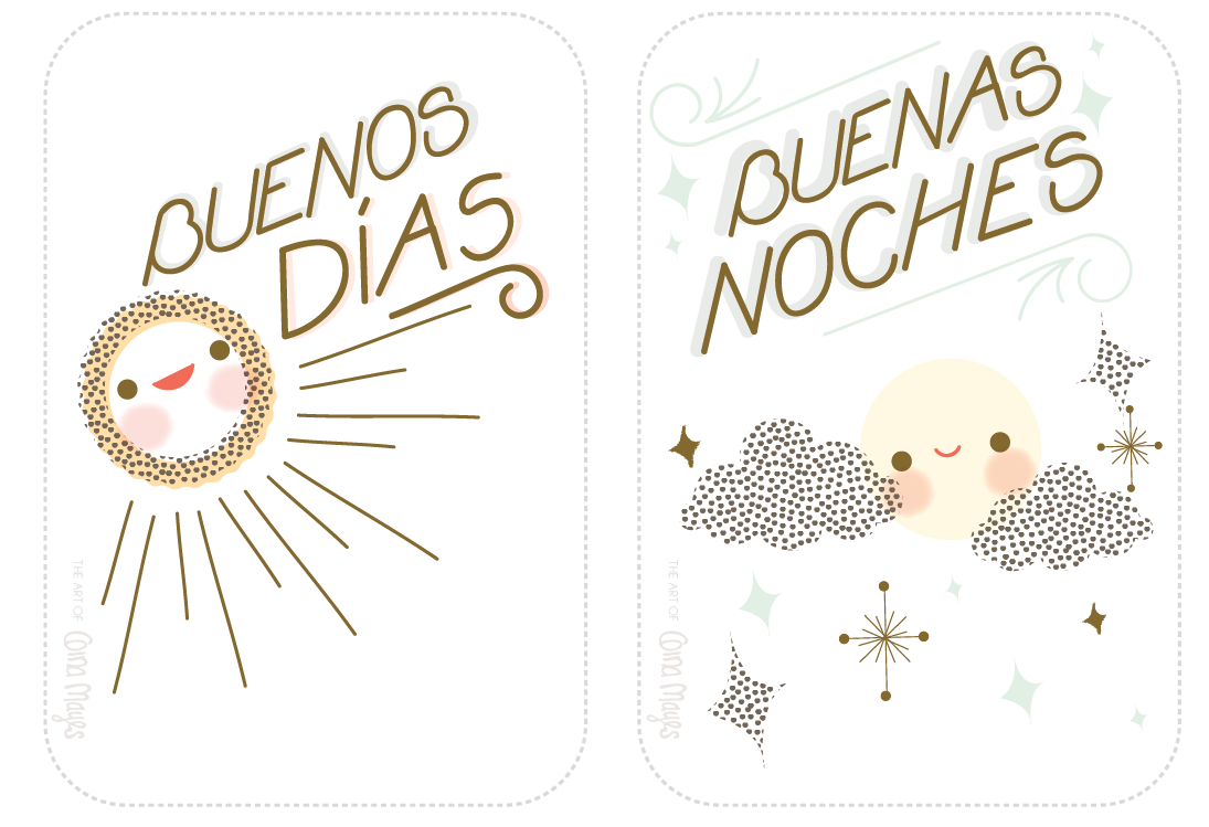 The Art Of Gina Mayes Freebie Of The Week Spanish Lesson On Greetings