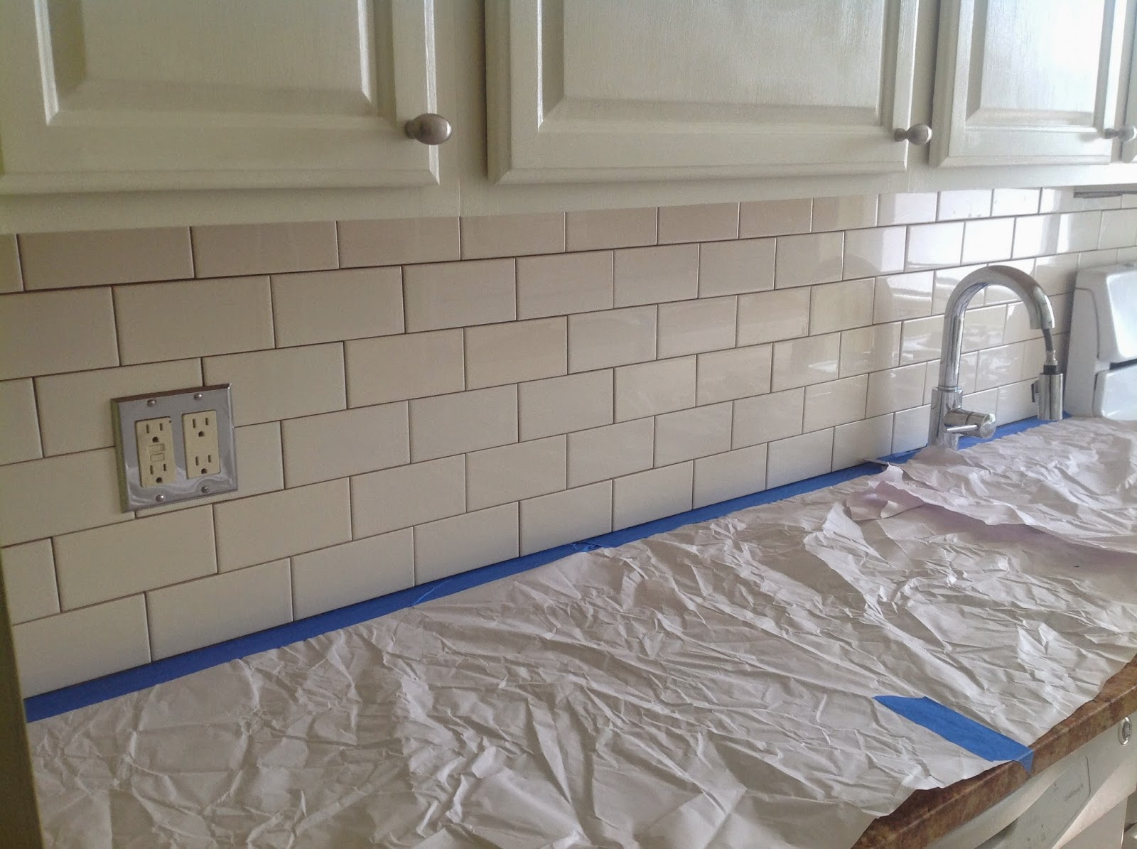 Subway Tile How To Grout Subway Tile Backsplash