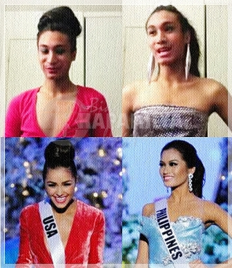 The Fierce Doll spoofs the Miss Universe 2012 Top 5 in Q and A including Janine Tugonon and Olivia Culpo