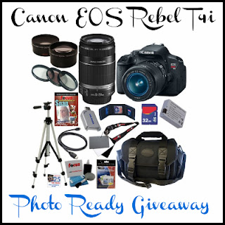 Canon EOS REBEL T4i Prize Package Giveaway
