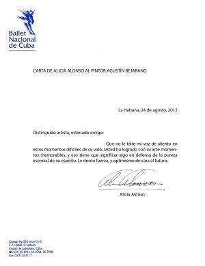 Apoyo de la Prima Ballerina Assoluta  Alicia Alonso a Agustín Bejarano
