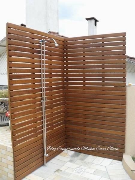 deck jardim vertical:Construindo Minha Casa Clean: Deck de Madeira na Parede!!!
