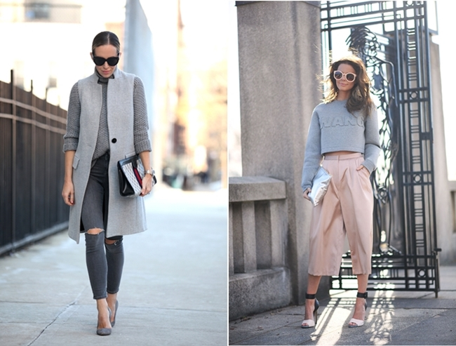 Brooklyn Blonde, Grey Look, 50 Shades of Grey, Nette Nestea Alexander Wand Cropped Pullover