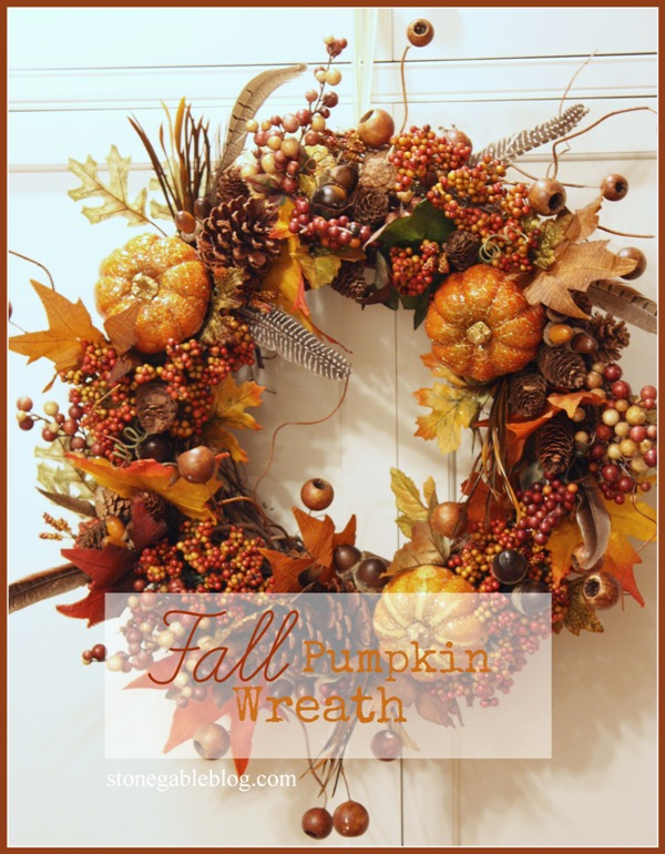 Fall Pumpkin Wreath Tutorial Stonegable