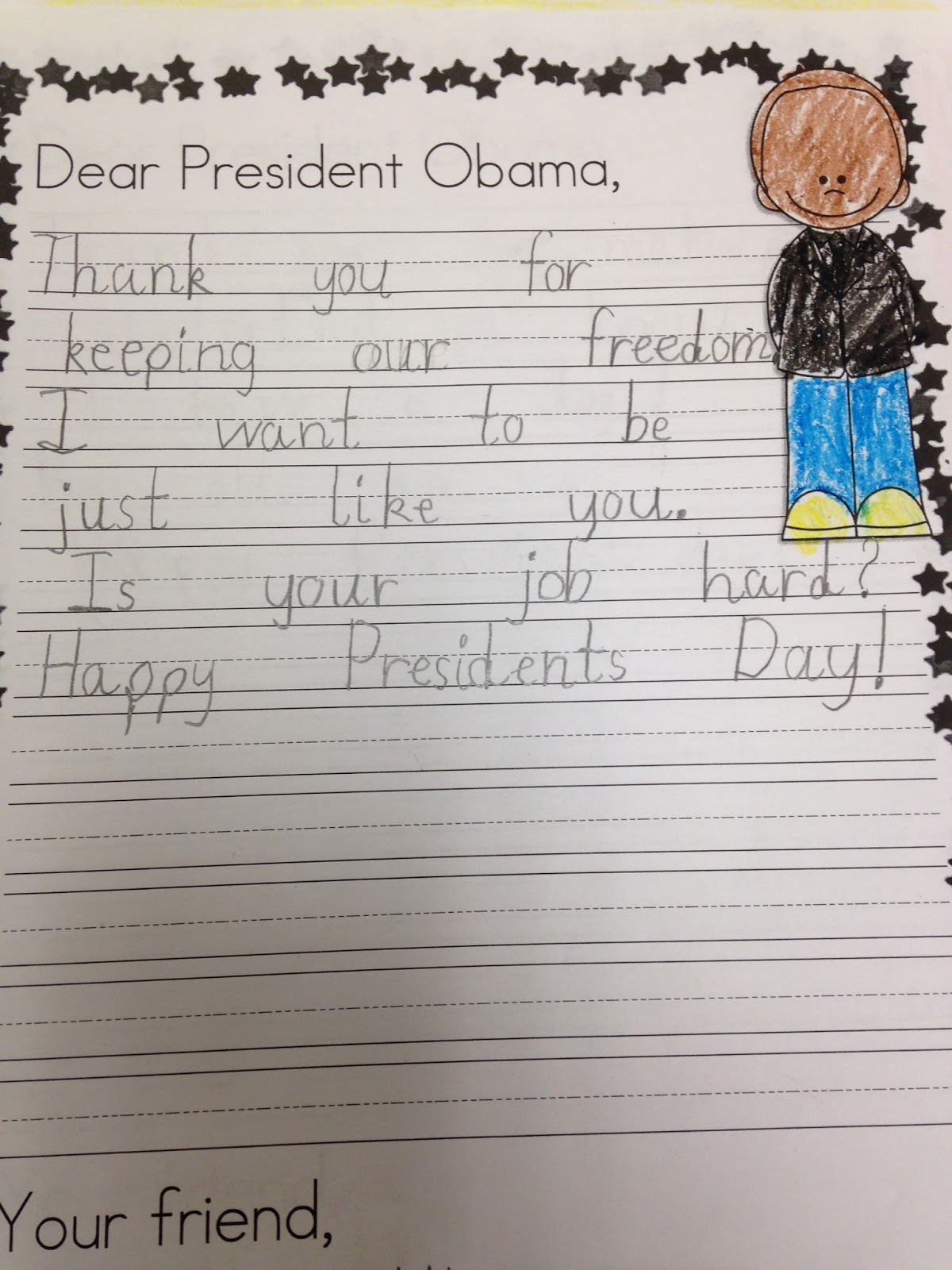 1st grade pandamania freebie sample of my presidents day pack choose from several different writing papers to have students write about the presidents or write a letter to president obama aljukfo Images