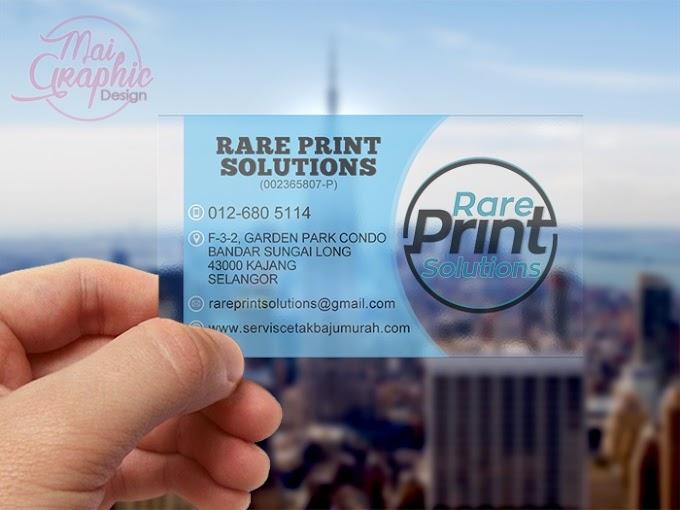 Tempahan Design Kad Bisnes Rare Print Solutions