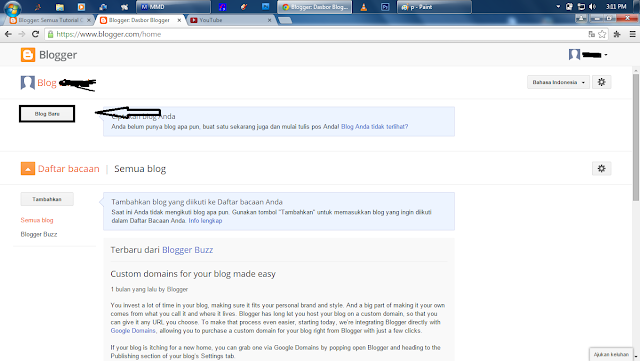 Cara Membuat Blog di Blogspot Terbaru 2015