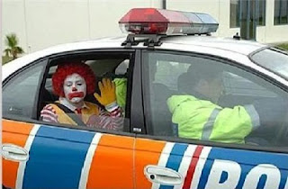 Ronald Mc Donald's clown arrested!