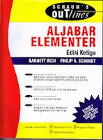 toko buku rahma: buku ALJABAR ELEMENTER, pengarang schaum's out lines, penerbit erlangga