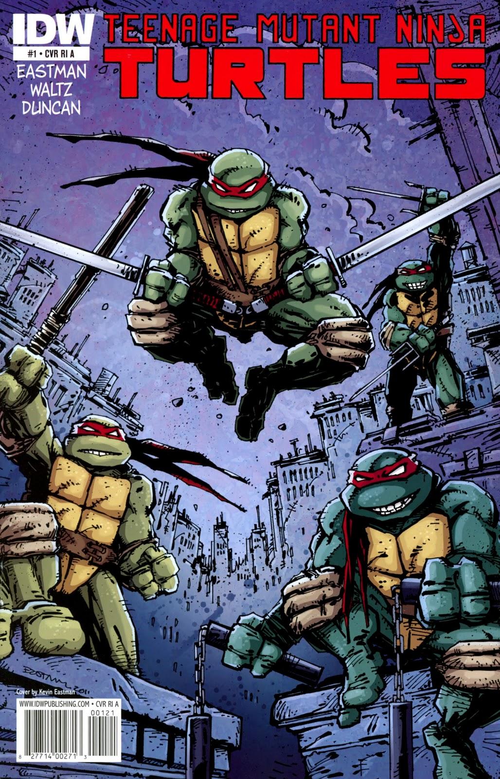 The CubeBlog: Teenage Mutant Ninja Turtles (IDW) #1-5