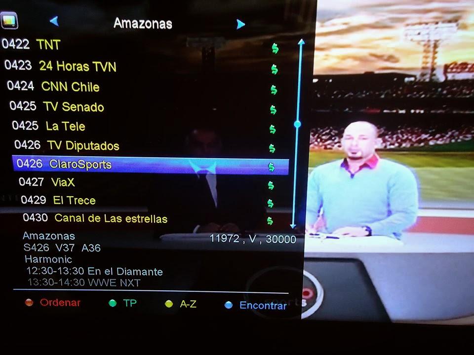 Lista de canales sd amazonas 61w