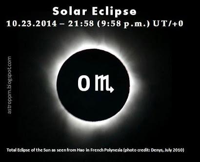 October 23: Solar Eclipse at 0 Scorpio