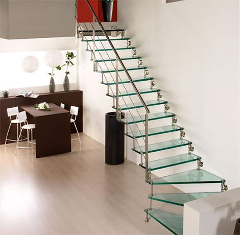 tangga rumah: desain tangga rumah modern perpaduan
