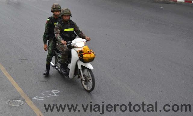 Tailandia Bangkok Soldados