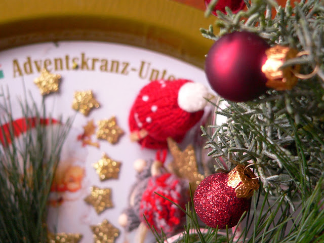 Adventsgesteck Adventsteller Kerzen Tanne