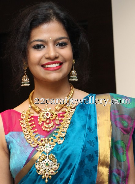 Model Keerthi in Trendy Mango Mala