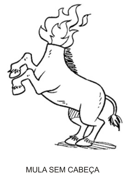 Personagens do Folclore - Mula-sem-cabeça