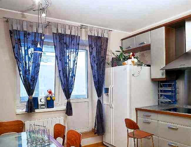 simple modern kitchen curtains transparent blue fabrics modern kitchen