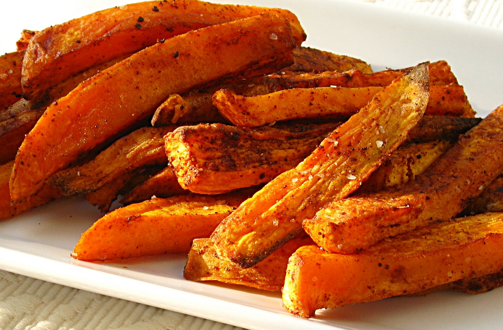 All That Splatters: Sweet Potato Oven Fries with Avocado Dip