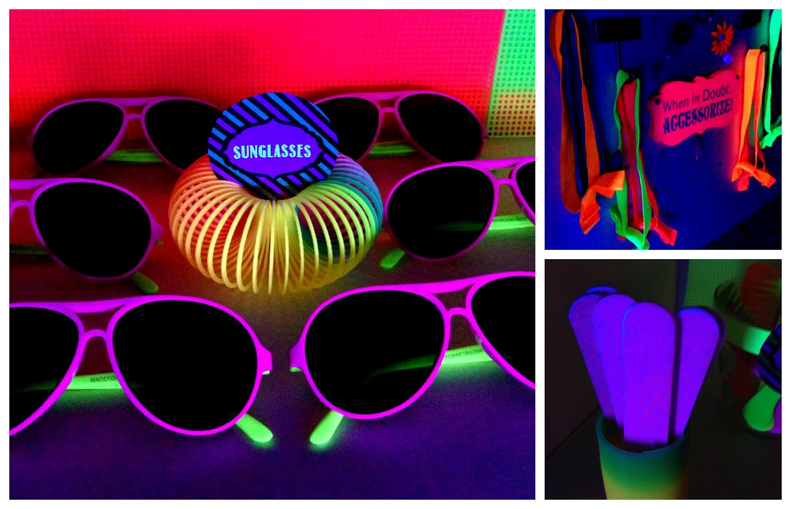 simply creative insanity totally cool..neon glow party, Party invitations